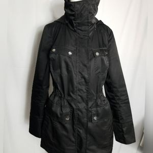 Calvin Klein coat hidden hood 6 pockets